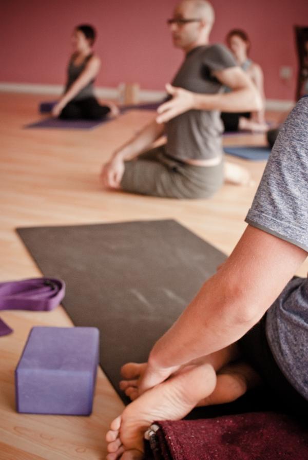 Richard Gartner teaching yoga